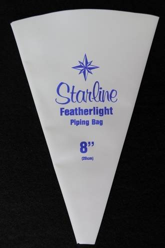 "Starline Featherlight Piping Bags 20cm, 8"" Single Bag"