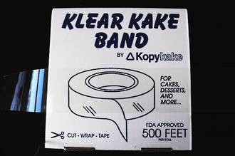 "2.5"" (65mm) Clear Cake Band (152.4 mtr)"