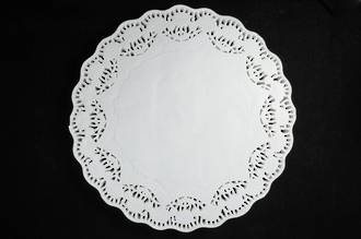 "Doyleys, Round 90mm White, Paper Lace 3.5"" (250)"