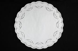 Doyleys, Round 30cm white, Paper lace doyleys (250)