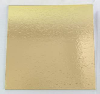 "350mm or 14"" Square 4mm Cake Card Gold"