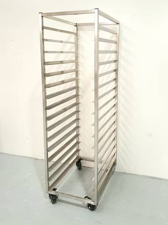 Production Rack S/Steel - 16 Shelf