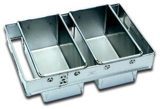 680gm Bread Pan (Set of 2) Top Measure: 405x260mm, 120mm deep - UNAVAILABLE