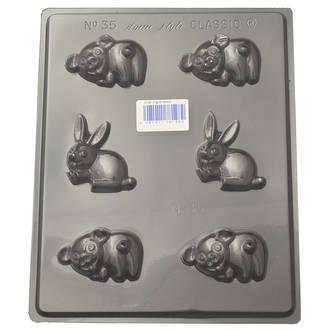 Pig & Rabbit Mould (0.6mm)