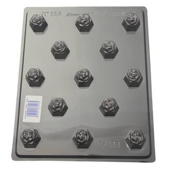 Deep Roses Hexagons Mould 0.6mm