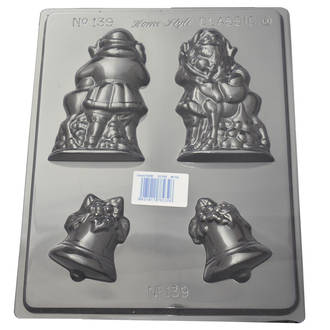 Hollow Santa & Bells Mould 0.6mm