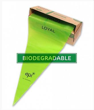 "18"" (460mm)  Biodegradable Non Slip Green Bags (100)"