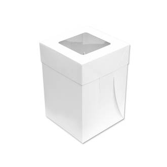 "Tall Cake Box (Window - 10"" x 10"" x 12"")"