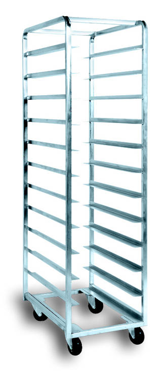 Production Rack S/Steel, 18 Shelf - 1810(h) x470(w) x740(d)