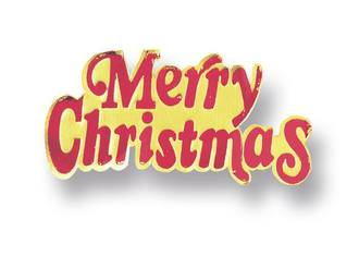 Merry Christmas Paper Motto (Red/Gold, 76mm Packet of 100)