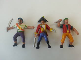 """Pirates Ahoy"" Figurines  80mm (3)"