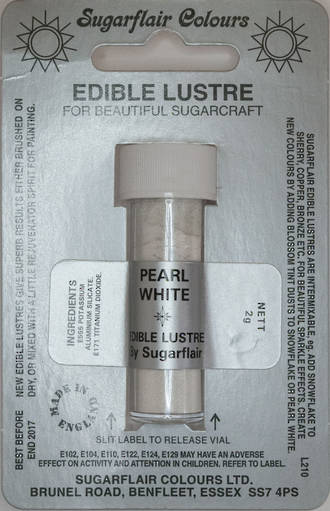 Sugarflair Edible Lustre Colour Pearl White - SOLD OUT