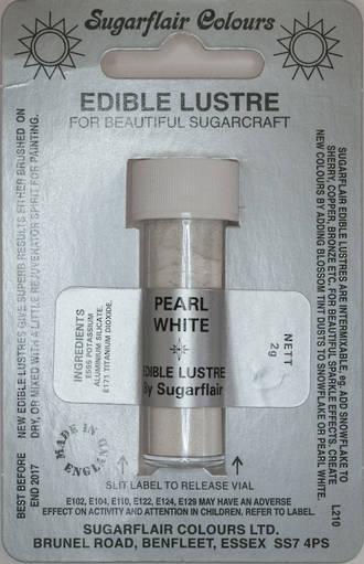 Sugarflair Edible Lustre Colour Pearl White