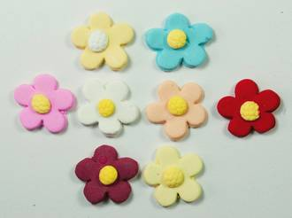 Tiny Icing Daisy, 8mm (Box of 360) 8 Assorted colour