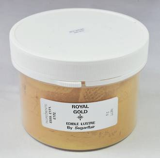 Sugarflair Edible Lustre Royal Gold powder 100g - SOLD OUT