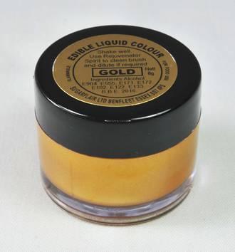 Sugarflair Edible Liquid Paint Gold