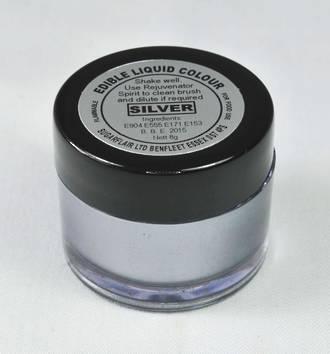 Sugarflair Edible Liquid Paint Silver