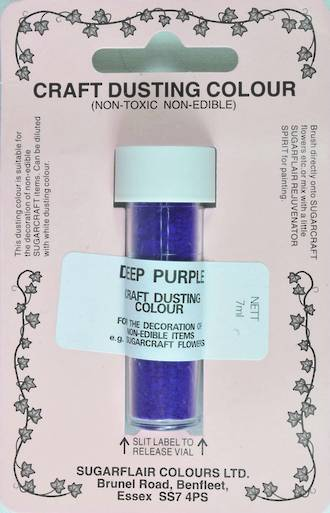 Sugarflair Craft Dusting Colour Deep Purple
