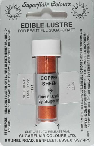 Sugarflair Edible Lustre Colour Copper Sheen