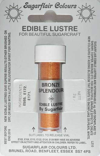 Sugarflair Edible Lustre Colour Bronze Splendor