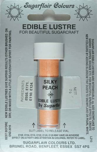 Sugarflair Edible Lustre Colour Silky Peach