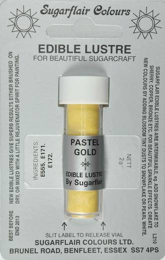 Sugarflair Edible Lustre Colour Pastel Gold