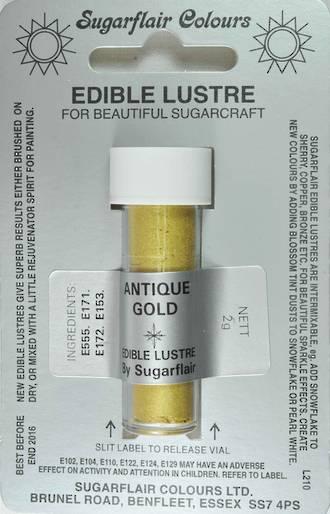 Sugarflair Edible Lustre Colour Antique Gold - SOLD OUT