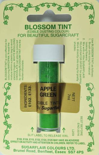 Sugarflair Edible Dusting Colour Apple Green - SOLD OUT