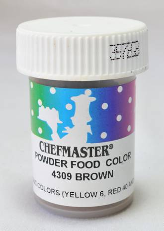 Chefmaster Powder Colour Brown 3g