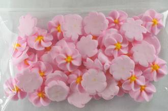 Icing Pink Drop Flowers 18mm (Packet of 50) - SOLD OUT