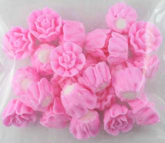 Icing Pink Roses 15mm, packet of 24