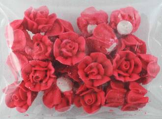 Icing Red Roses 15mm, packet of 24