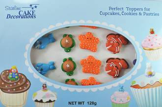 Sea Collection, Assorted 2D Icing 35mm (Box of 24)