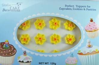 Daffodil Flowers, 2D Icing, 35mm (24)