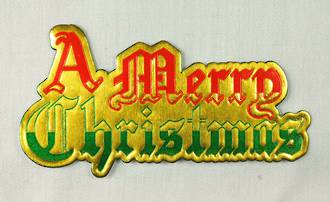 Merry Christmas Paper Motto (63mm x 34mm,  Packet 100)