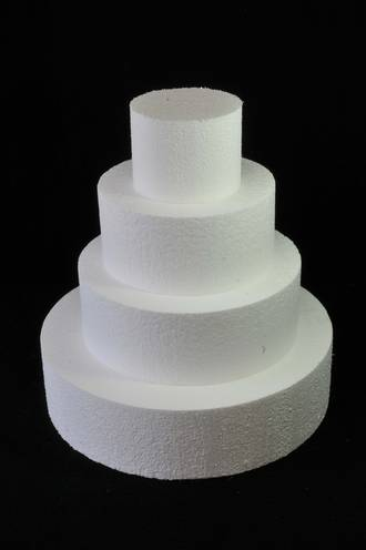 "9"" Round Cake Dummy, 75mm deep, Polystyrene"