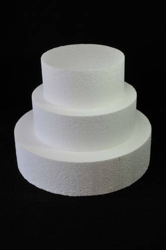"6"" Round Cake Dummy, 75mm deep, Polystyrene - SOLD OUT"