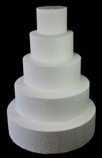 "11"" Round Cake Dummy, 75mm deep, Polystyrene"