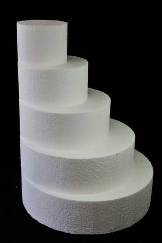 "12"" Round Cake Dummy, 75mm deep, Polystyrene"
