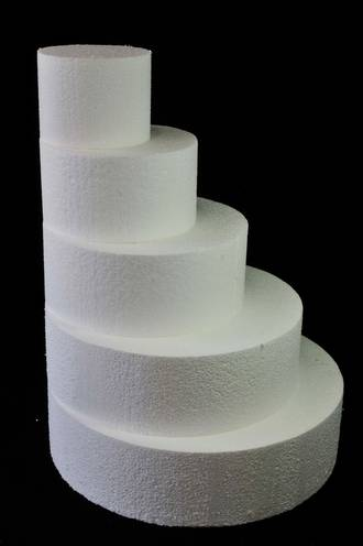 "8"" Round Cake Dummy, 75mm deep, Polystyrene"