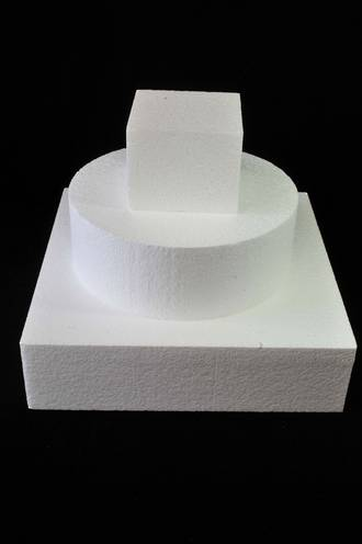 "8"" Square Cake Dummy, 75mm deep, Polystyrene"