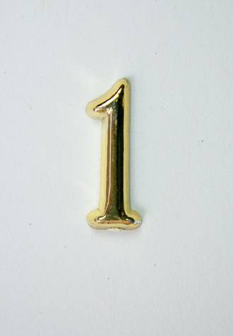 15mm Numeral 1, Gold