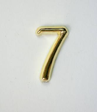 15mm Numeral 7, Gold