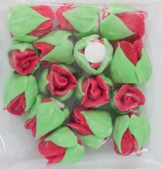 Icing Red Roses Buds 15mm, Pkt 15