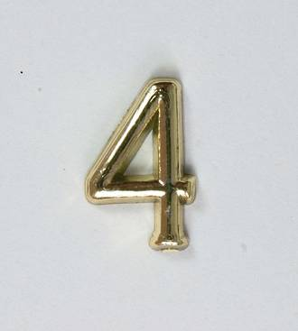 15mm Numeral 4, Gold