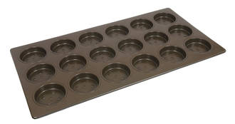 Hamburger Tray, Deep 102x23mm. Tray size 406x760mm, 18 forms