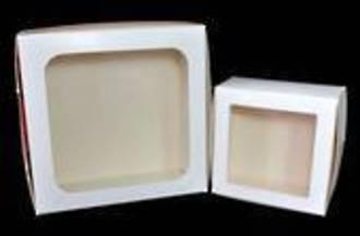 Cake boxes 10 X 10 X 4 inch with window, 254 x 254 x 127mm, Bundles of 100