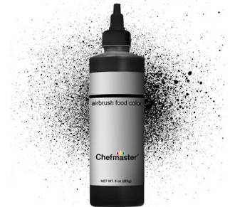 Chefmaster Airbrush Liquid Black 9oz