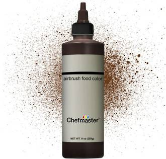 Chefmaster Airbrush Liquid Harvest Brown 9oz