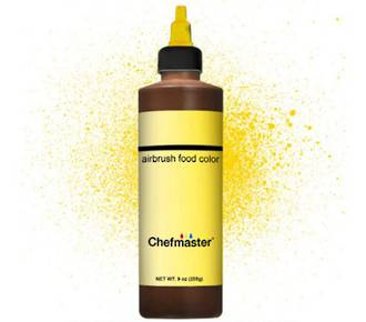 Chefmaster Airbrush Liquid Canary Yellow 9oz